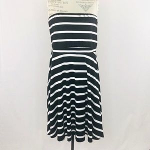 Torrid Striped Tube Dress Black and White Sz 3